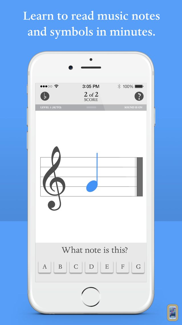 Screenshot - Blue Note: Learn to read music notes - Flash Cards