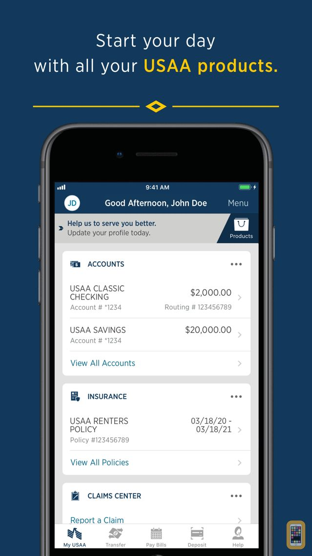Screenshot - USAA Mobile