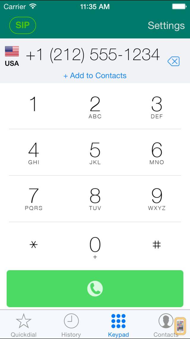 Screenshot - Acrobits Softphone