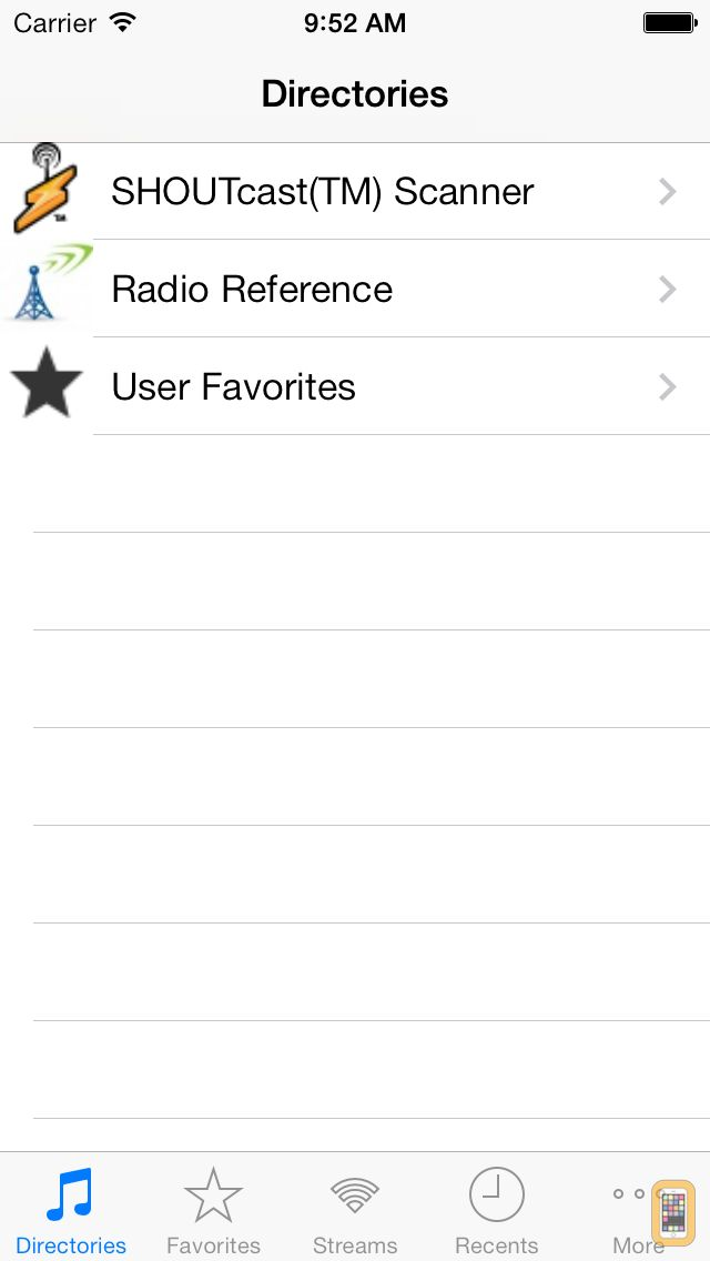 Screenshot - Scanner Radio