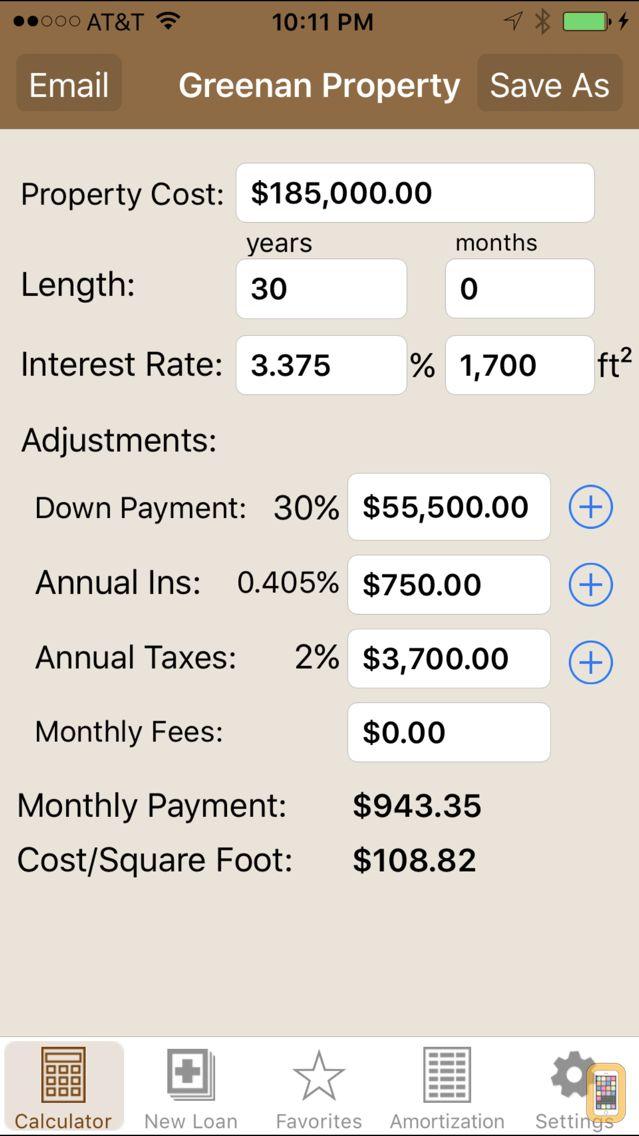 Screenshot - Mortgage Calculator Pro
