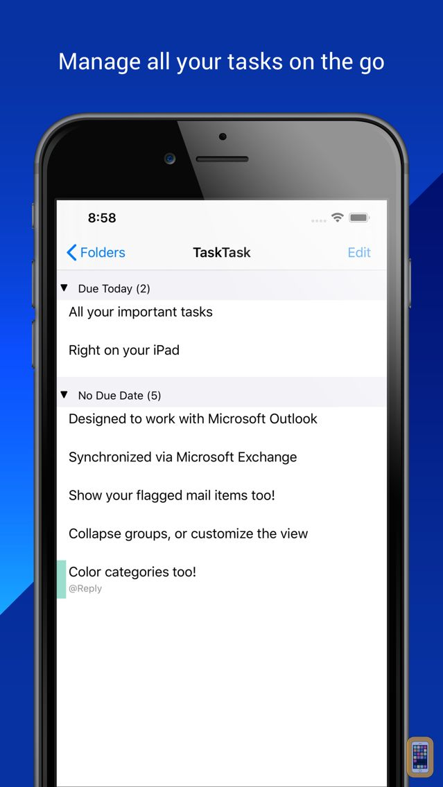 Screenshot - TaskTask for Outlook Tasks