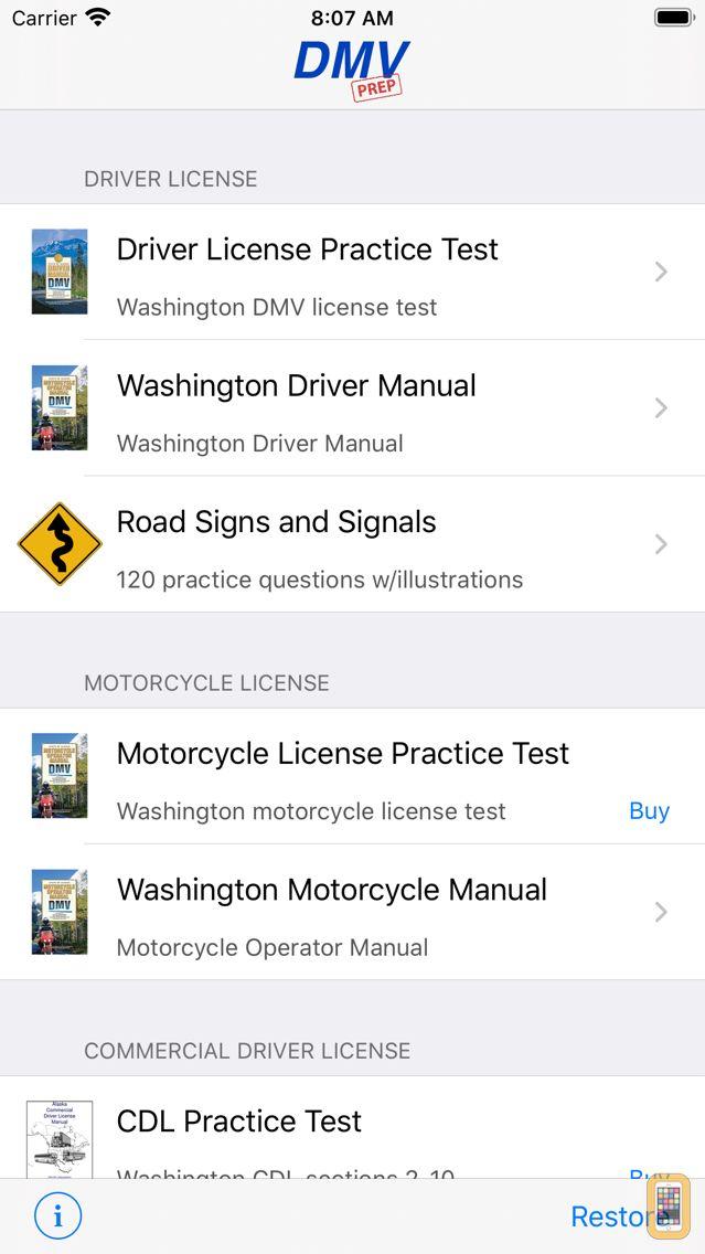 Screenshot - Washington DMV Test Prep