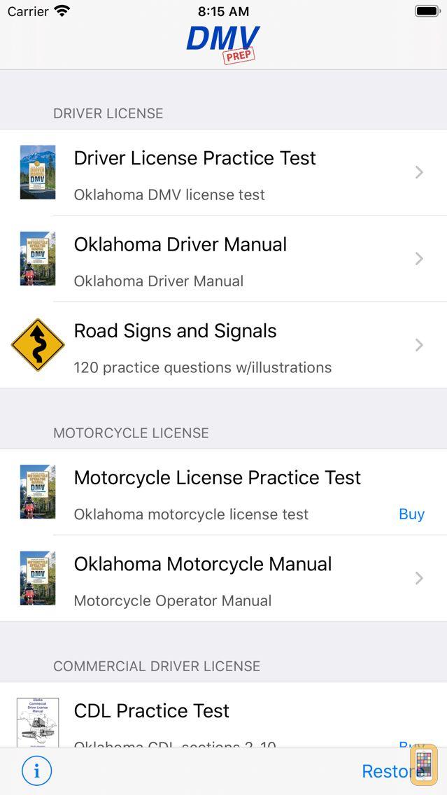 Screenshot - Oklahoma DMV Test Prep