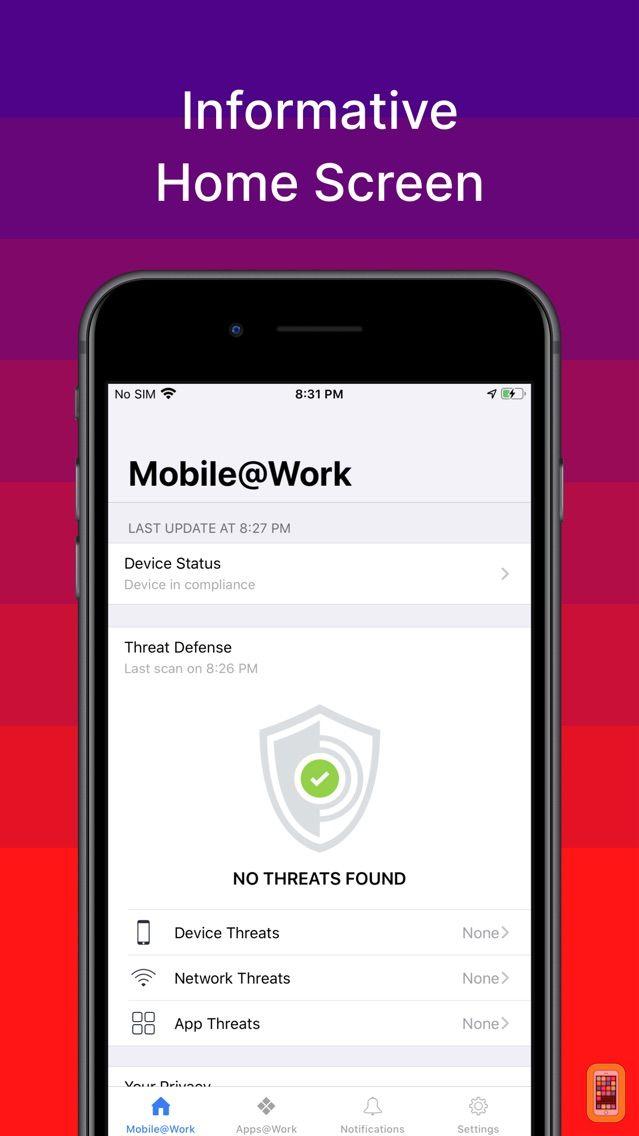 Screenshot - MobileIron Mobile@Work™ Client
