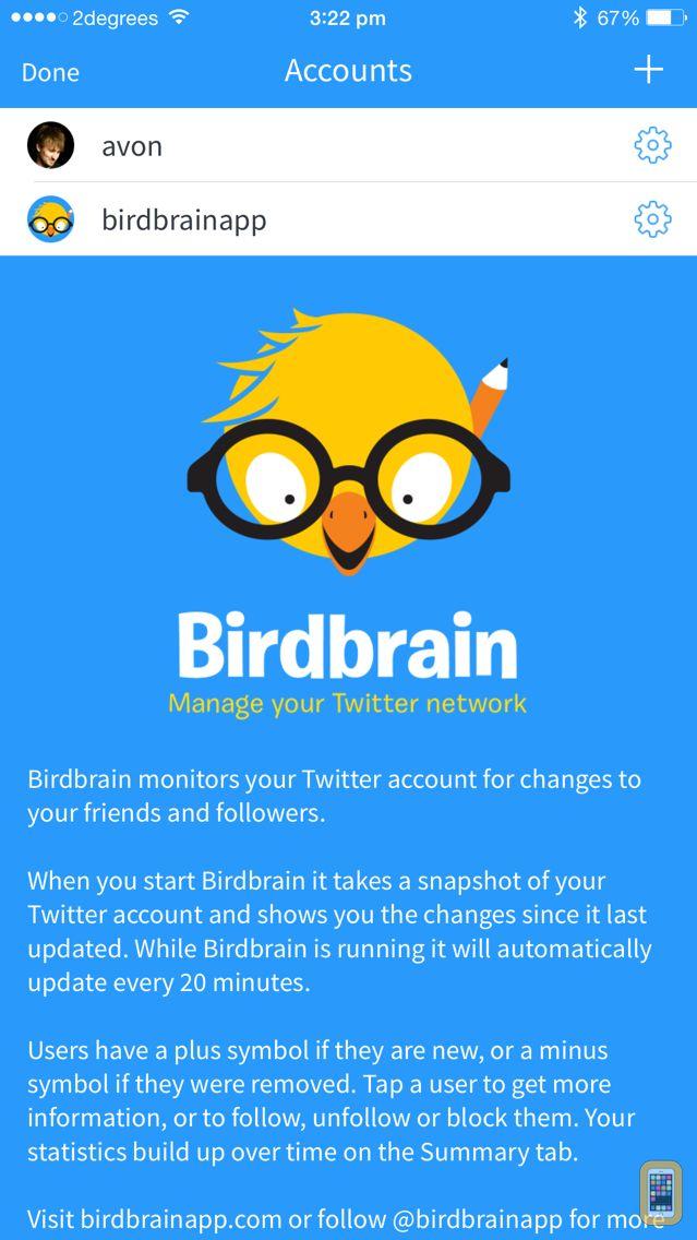 Screenshot - Birdbrain ~ stats for Twitter