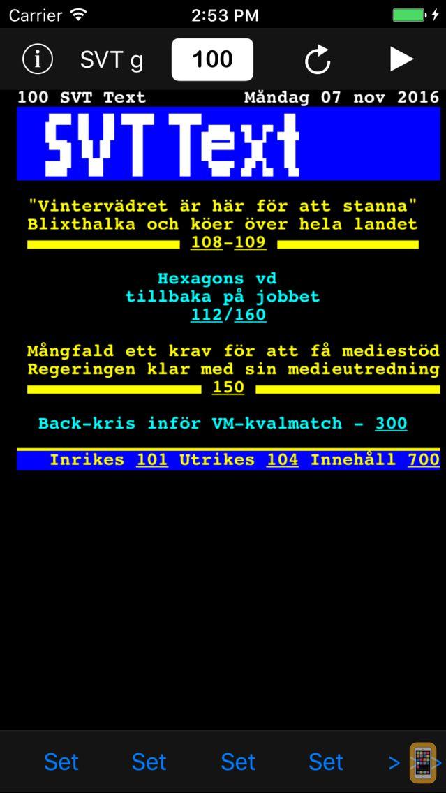 Screenshot - TextTV