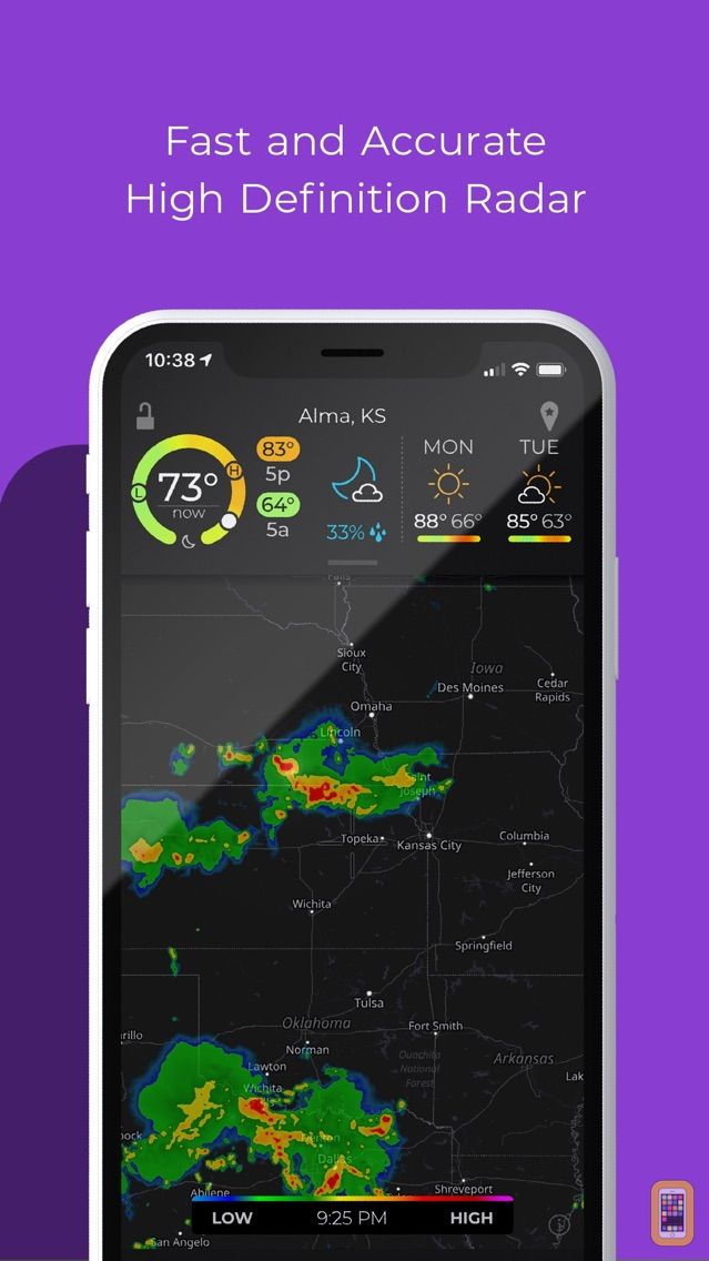 Screenshot - MyRadar Weather Radar Pro