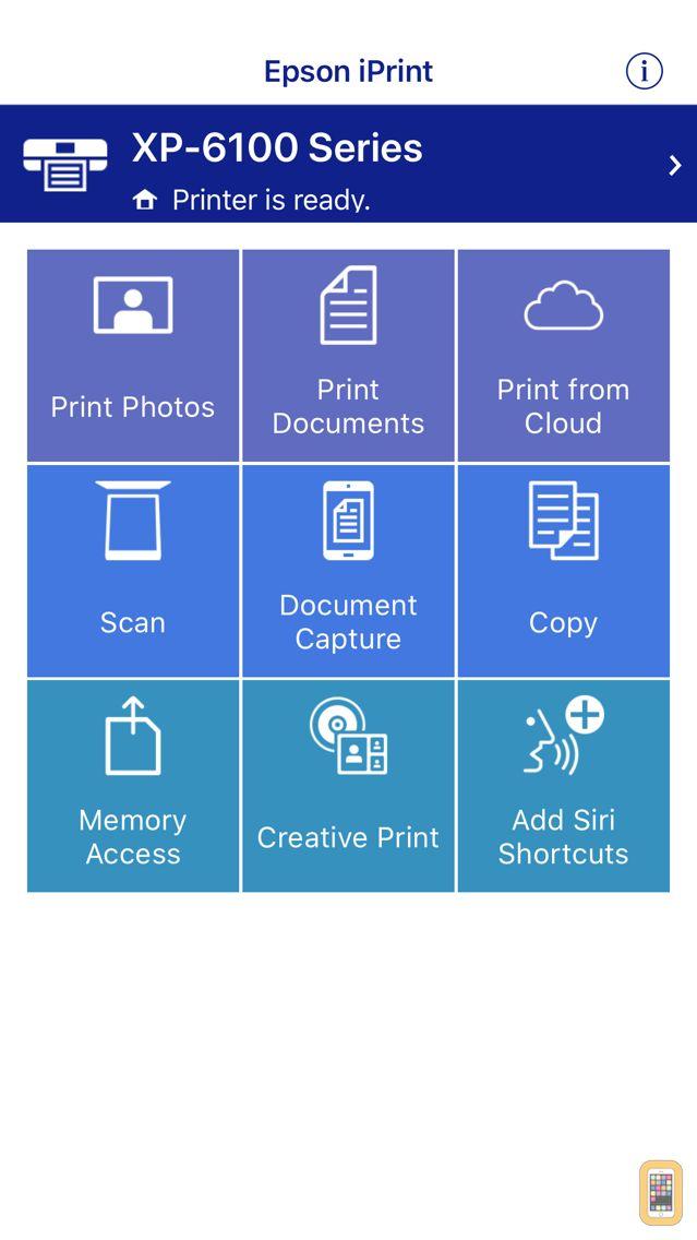 Screenshot - Epson iPrint