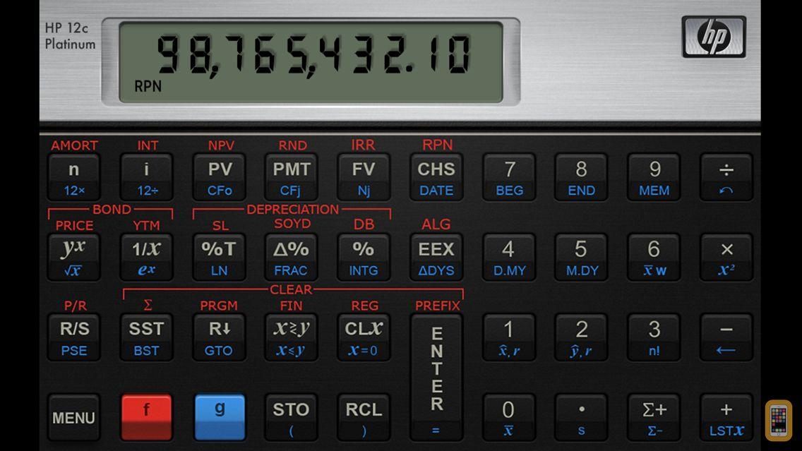 Screenshot - HP 12C Platinum Calculator