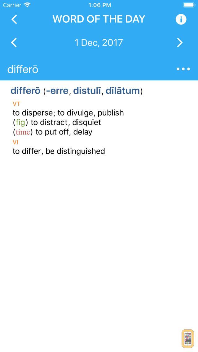 Screenshot - Collins Latin Dictionary