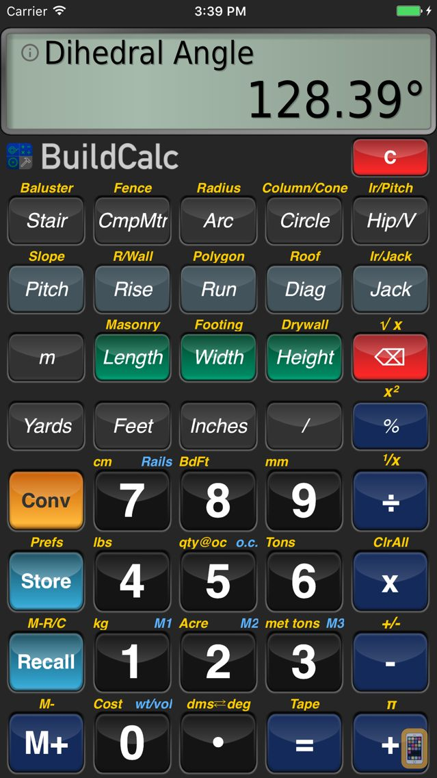 Screenshot - BuildCalc