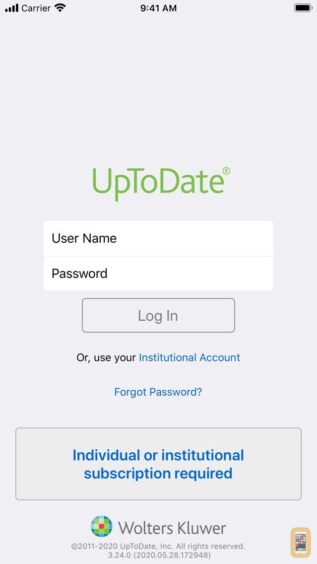 Screenshot - UpToDate
