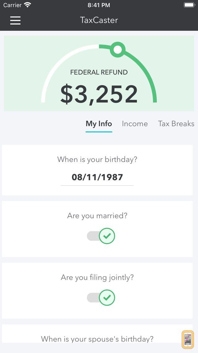 Screenshot - TaxCaster: Tax Calculator