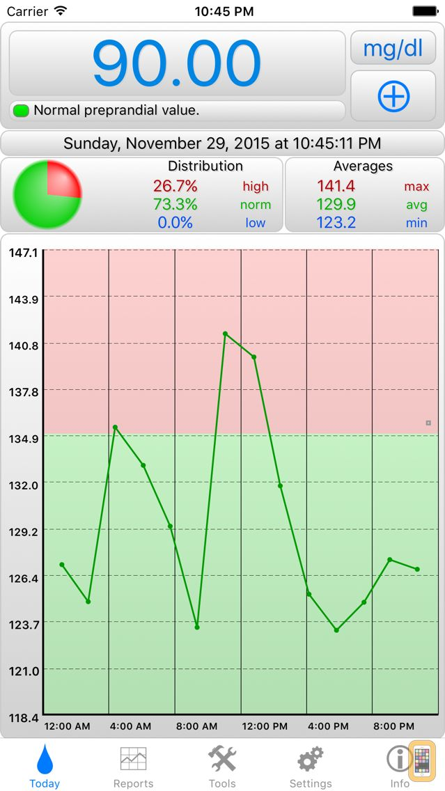 Screenshot - BGluMon Pro - Glucose Monitor