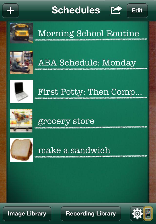 Screenshot - First Then Visual Schedule