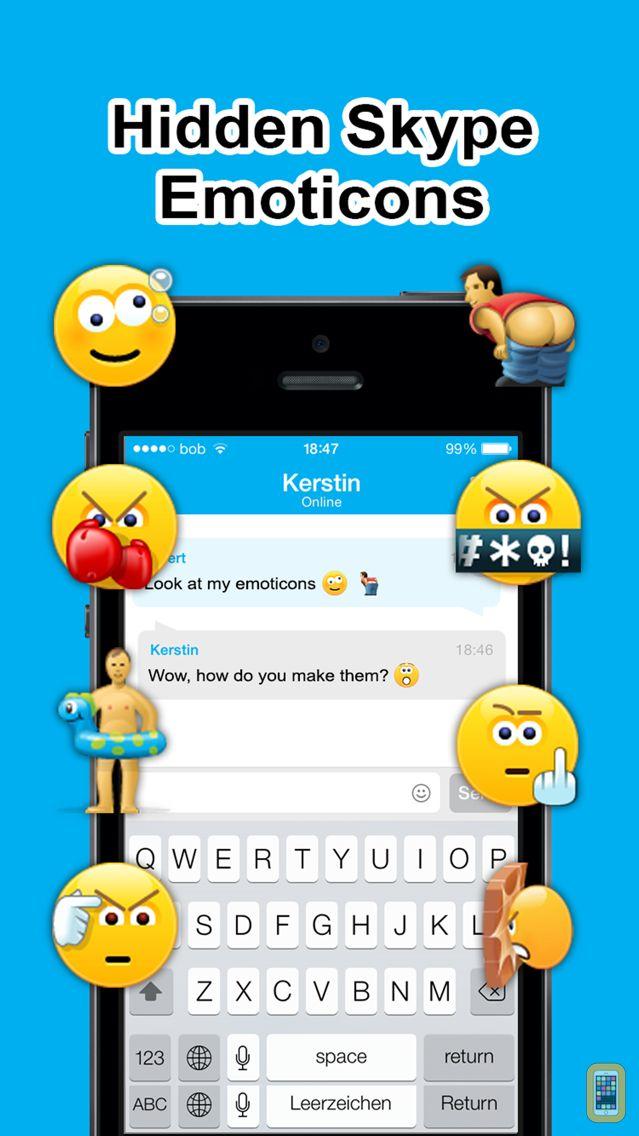 Screenshot - Secret Smileys for Skype - Hidden Emoticons for Skype Chat - Emoji