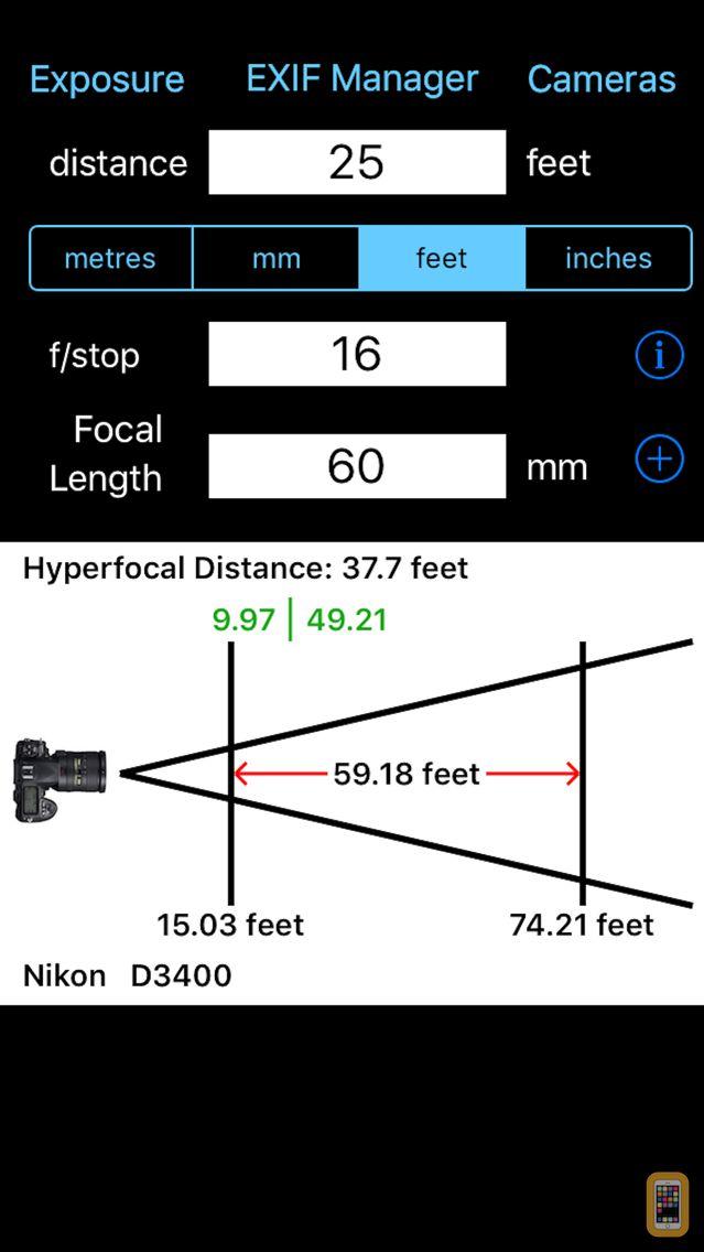Screenshot - Depth Of Field Calculator