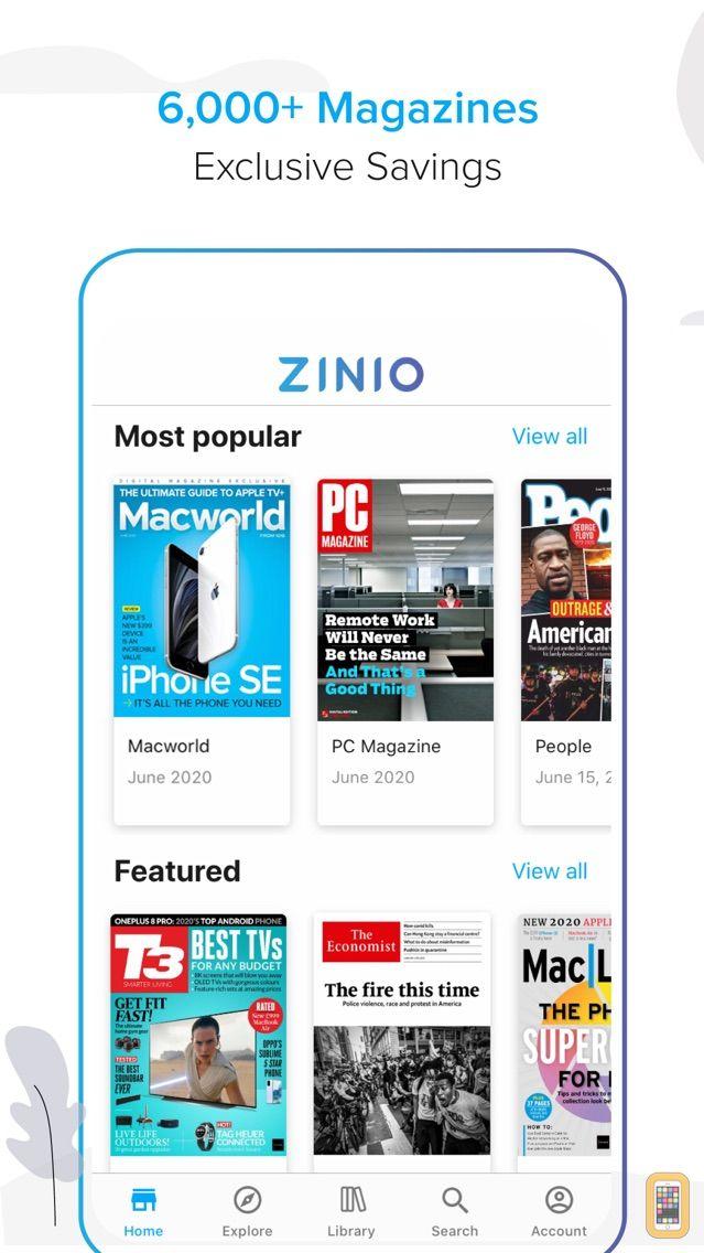 Screenshot - Zinio - The World's Magazine Newsstand