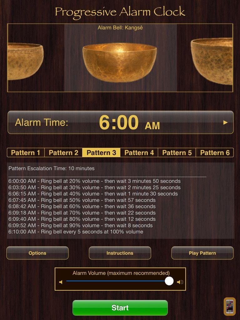 Screenshot - Progressive Alarm Clock for iPad