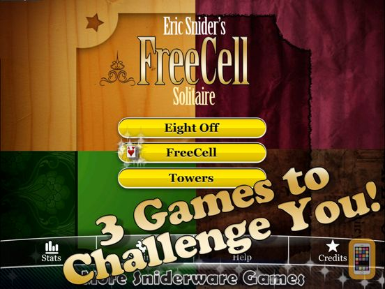 Screenshot - Eric's FreeCell Solitaire Pack HD