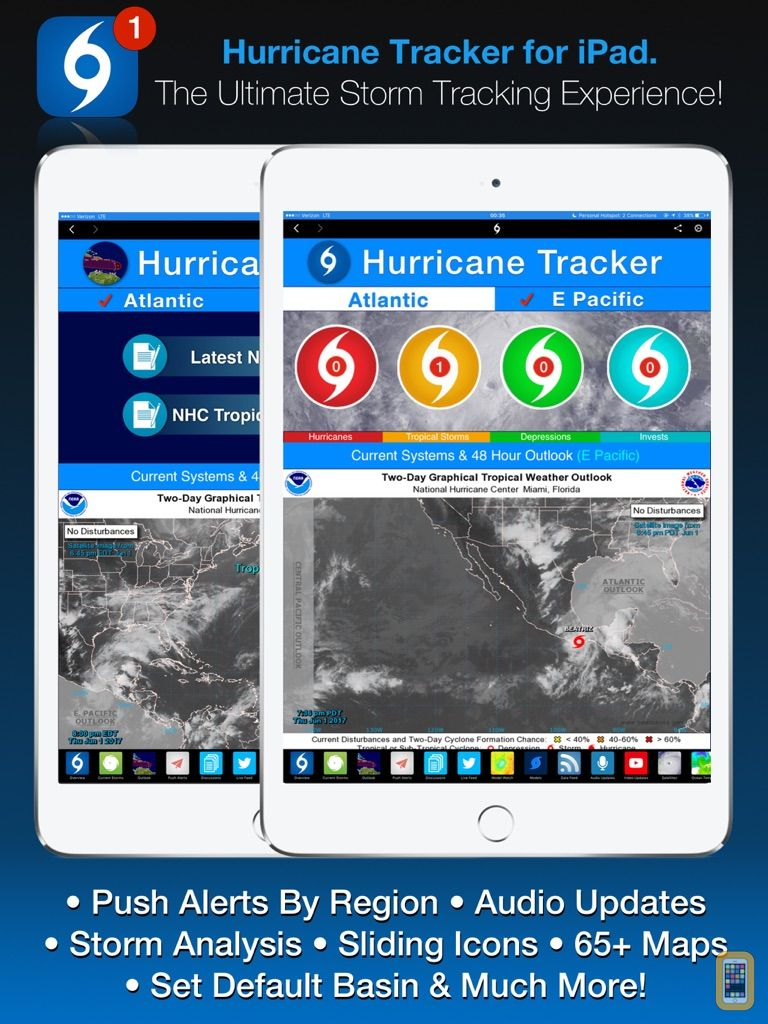 Screenshot - Hurricane Tracker For iPad