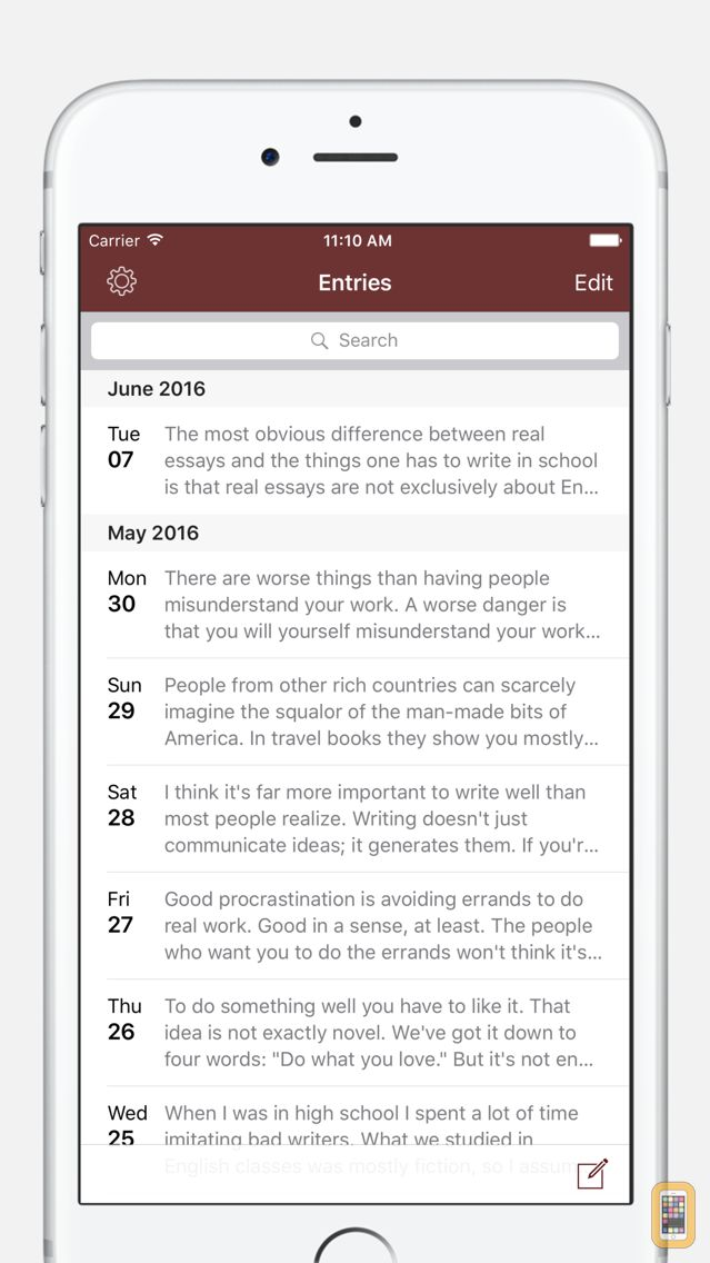 Screenshot - Chronicle - A Personal Journal / Writing Diary