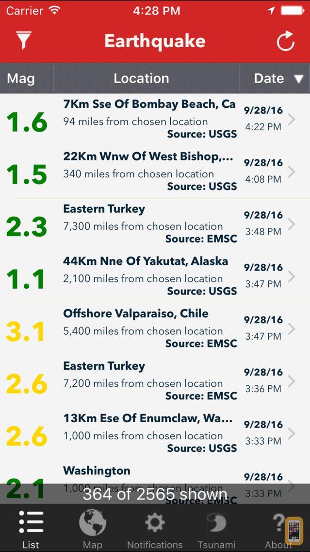 Screenshot - Earthquake Lite - Realtime Tracking App
