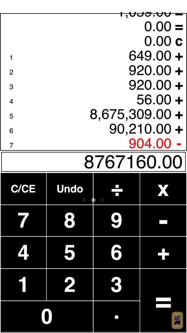 Screenshot - Adding Tape Printing Calculator with virtual tape