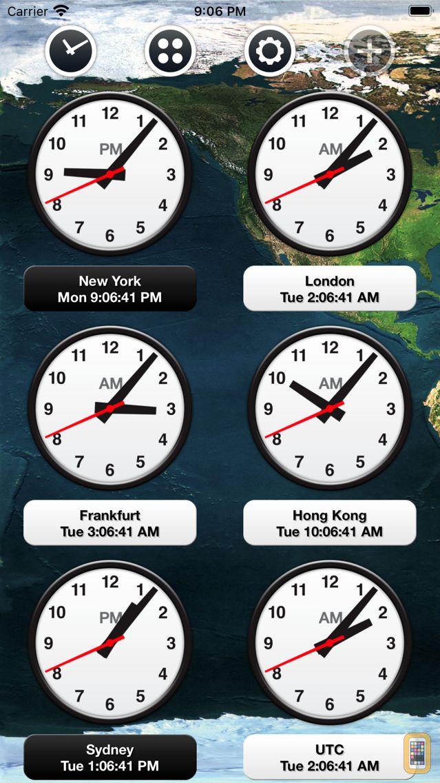 Screenshot - News Clocks