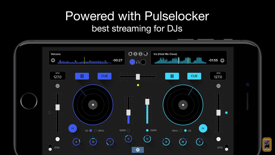 Screenshot - deej - DJ turntable. Mix, record, share your music
