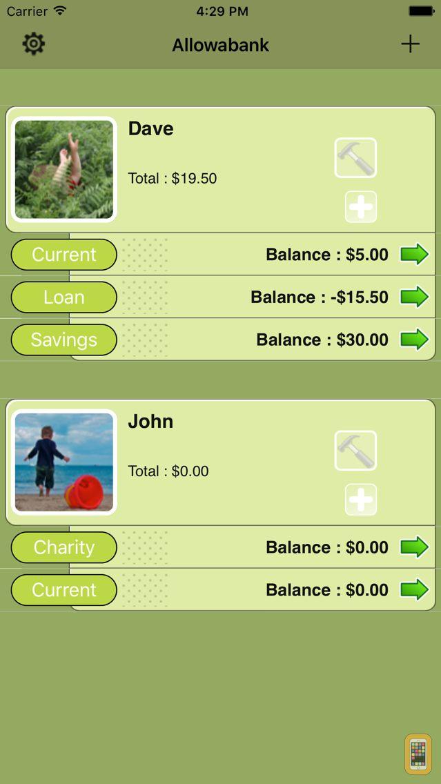 Screenshot - Allowabank (Allowance Monitor)