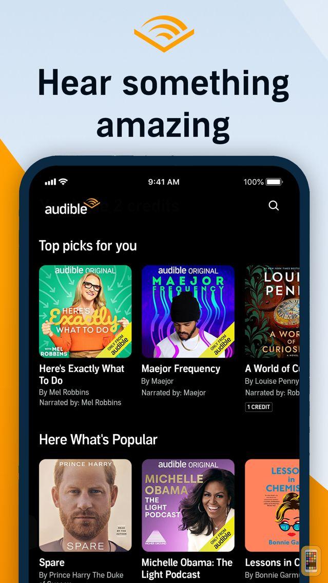 Screenshot - Audible – audio books, original series & podcasts