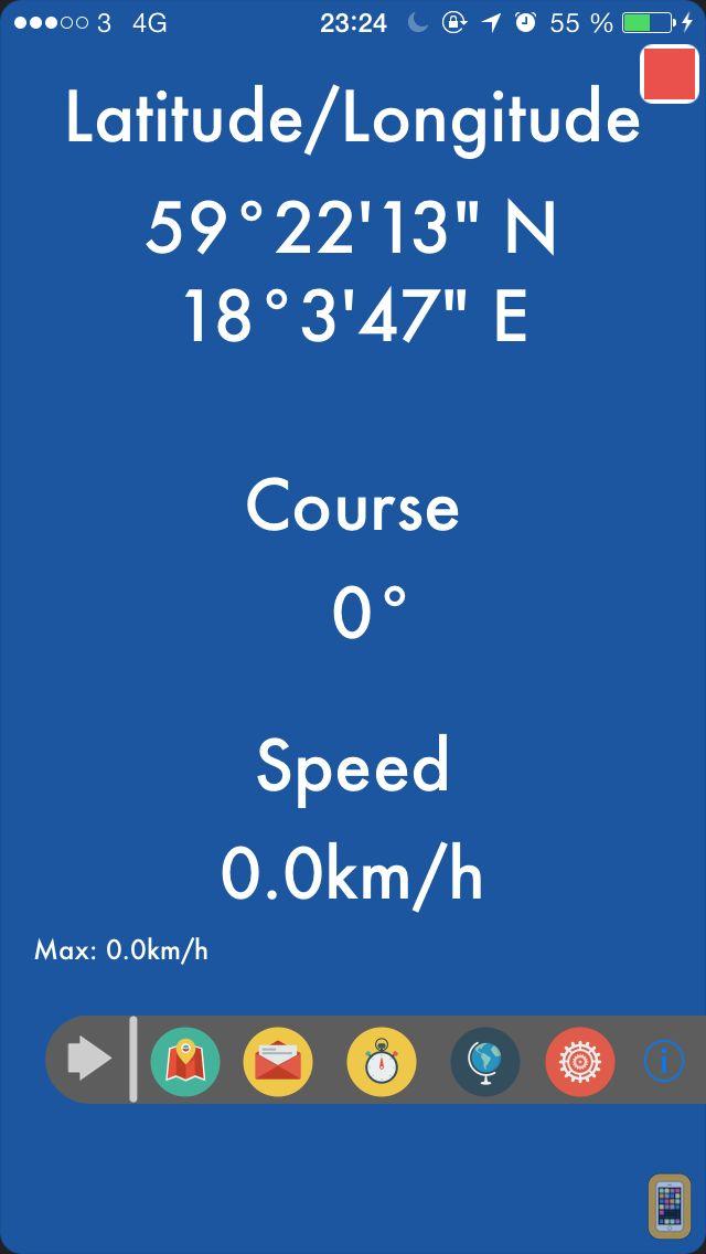 Screenshot - GPS Locator for Trekking, Hiking, Running and Sailing...