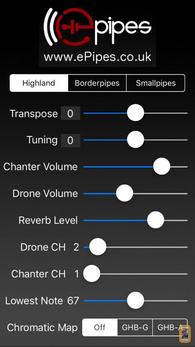 Screenshot - ePipes - MIDI Bagpipes