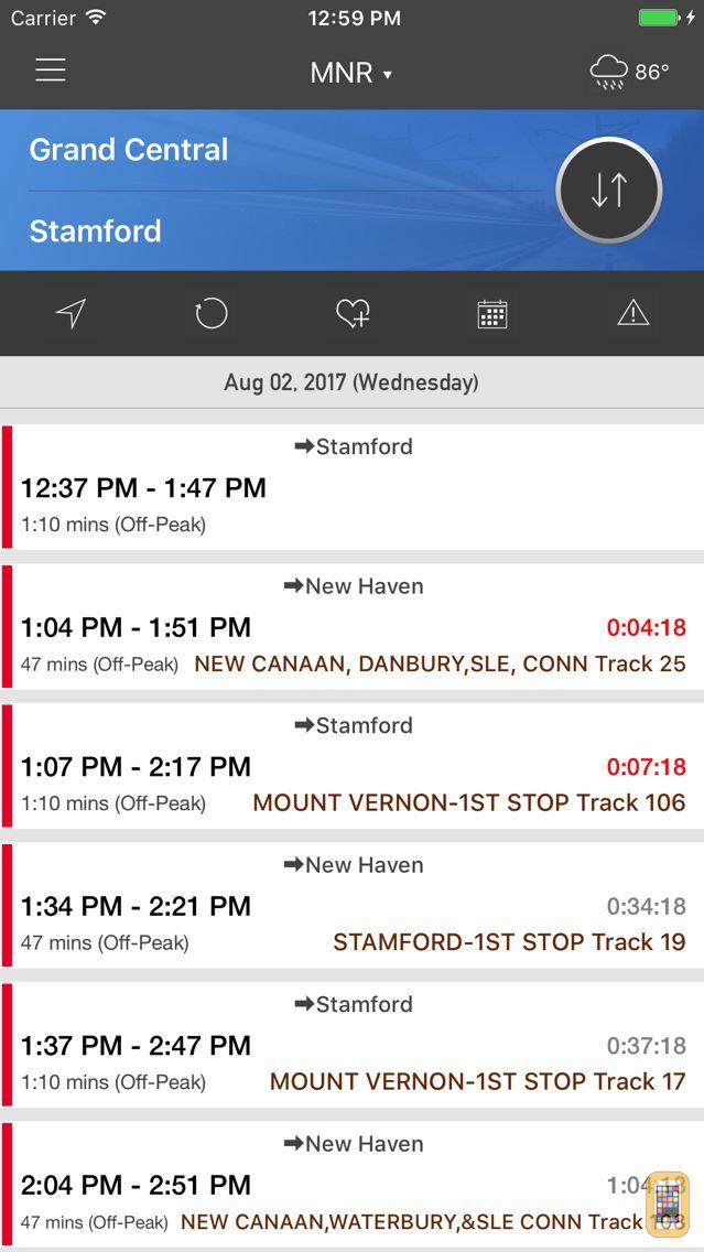 Screenshot - onTime : MNR - MetroNorth Rail