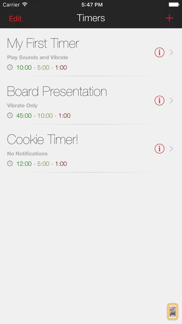 Screenshot - Presentation Clock