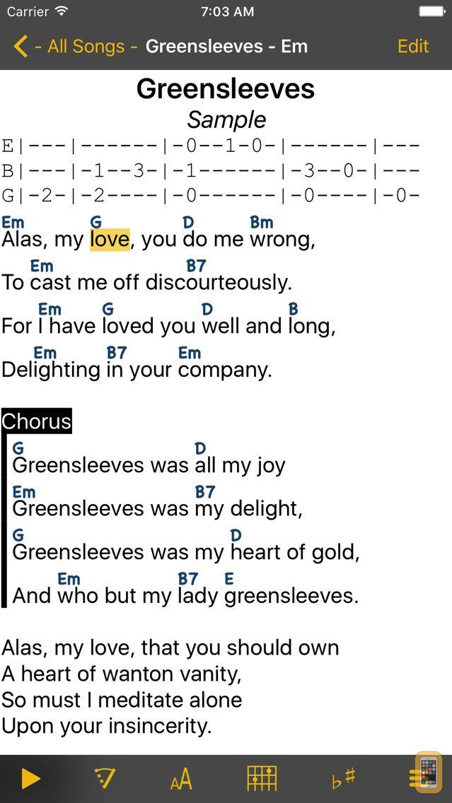 Screenshot - SongBook Chordpro