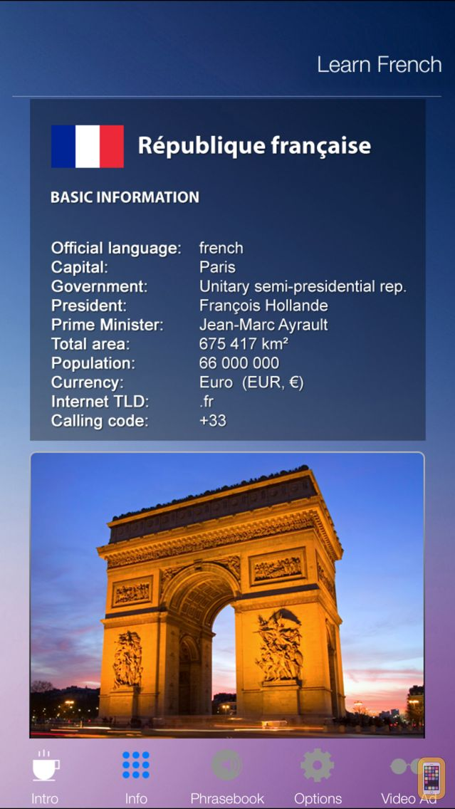 Screenshot - Learn FRENCH Fast and Easy - Learn to Speak French Language Audio Phrasebook and Dictionary App for Beginners