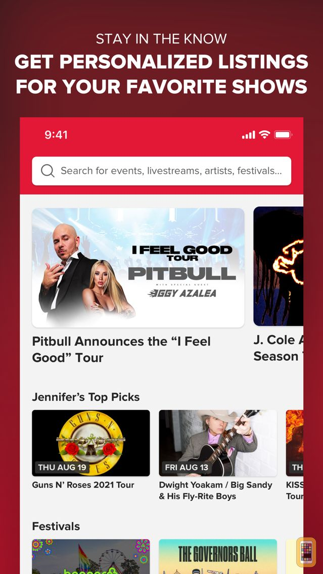 Screenshot - Live Nation – For Concert Fans