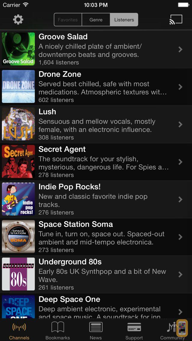 Screenshot - SomaFM Radio Player