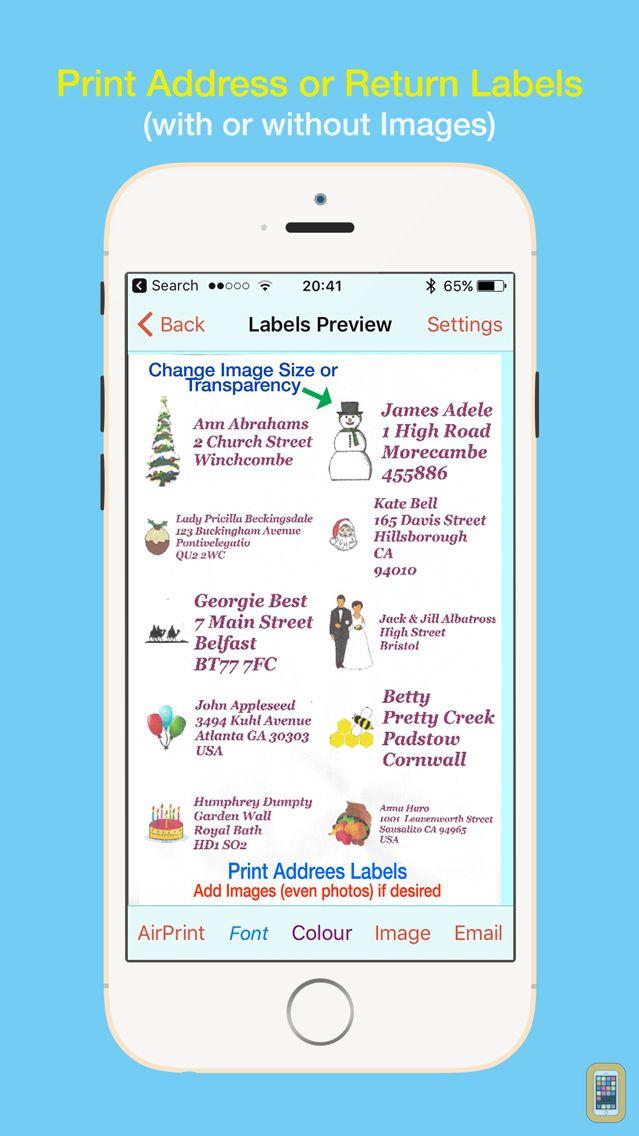 Screenshot - Address Labels for CardLists