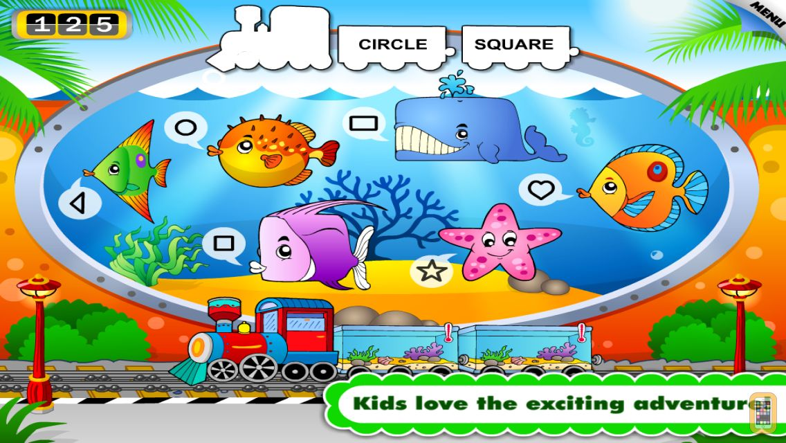 Screenshot - Animal Train Preschool Adventure First Word Learning Games for Toddler Loves Farm and Zoo Animals by Monkey Abby®