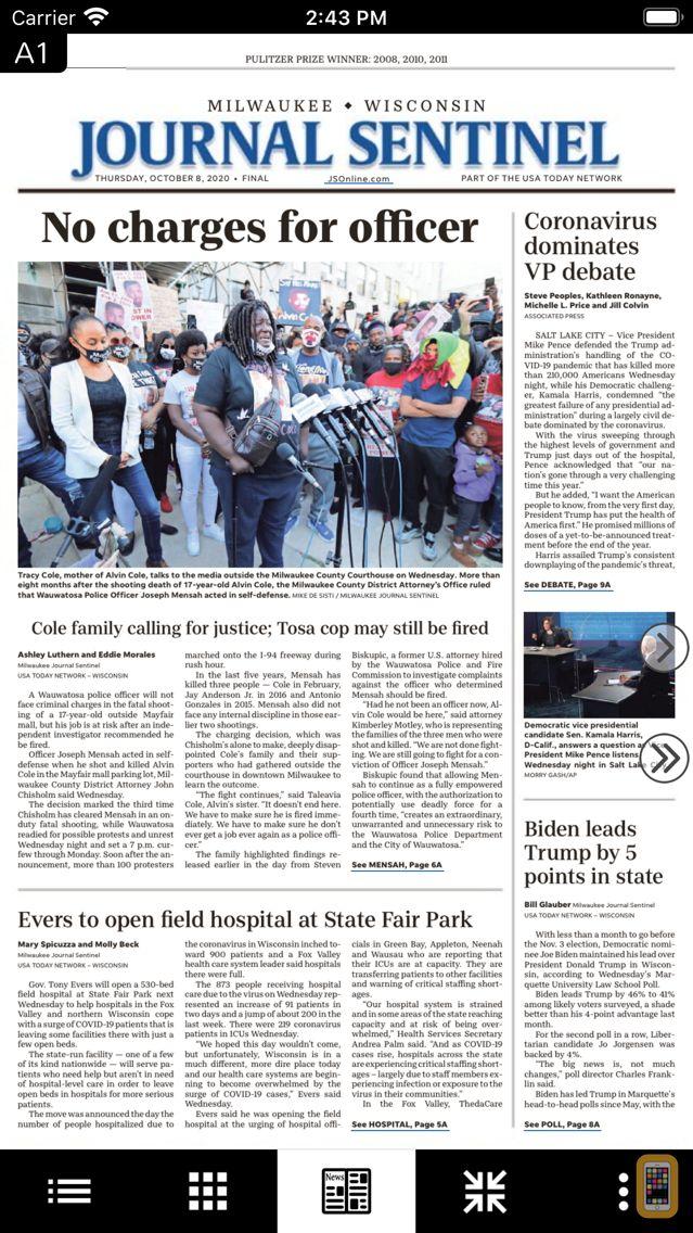 Screenshot - Journal Sentinel Print Edition