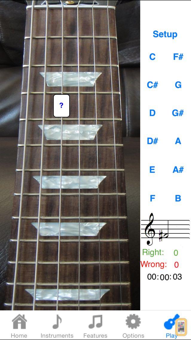 Screenshot - Electric Guitar Fretboard Addict