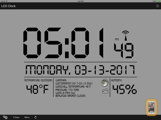 Screenshot - LCD Wallclock+Weather