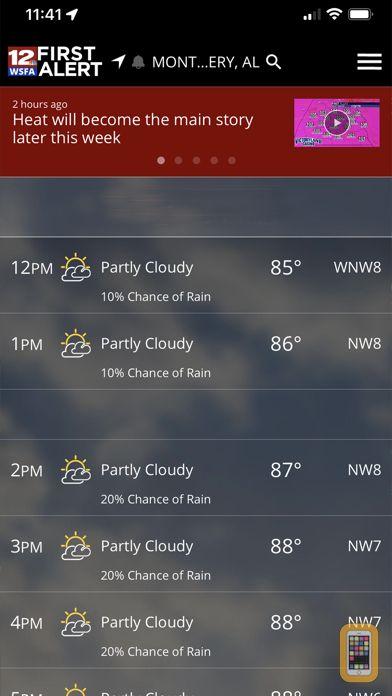 Screenshot - WSFA First Alert Weather