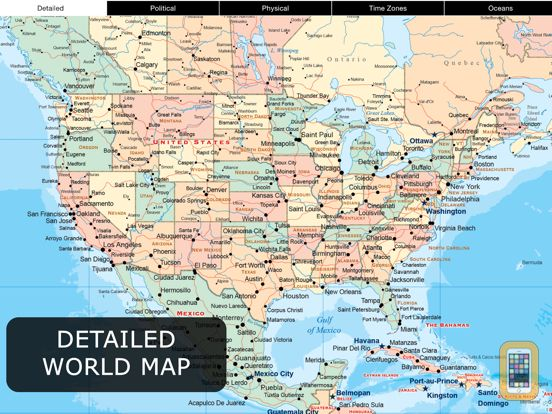 Screenshot - World Map Pro for iPad