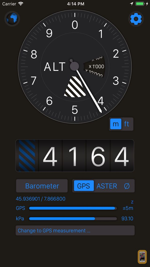 Screenshot - Altimeter+