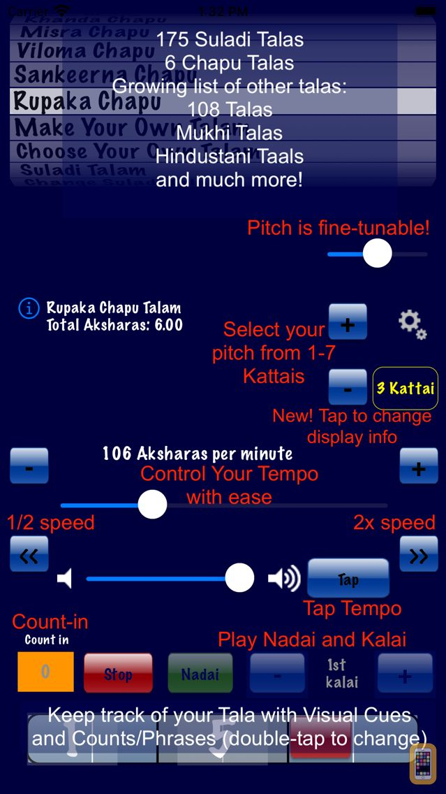 Screenshot - Talanome - Carnatic Metronome